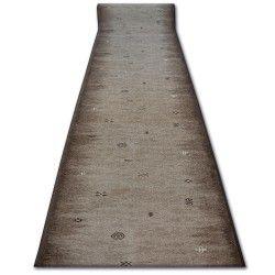 дебел килим бегач противоплъзгаща основа GABBEH кафяво ацтеките етнически