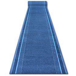 дебел килим бегач противоплъзгаща основа JURA синьо ромбоиди