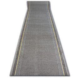 дебел килим бегач противоплъзгаща основа JURA тъмнокафяво ромбоиди