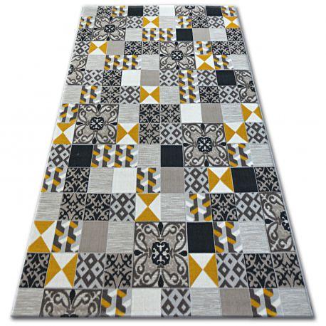 Килим LISBOA 27218/255 жълто керамична мозайка португалски стил