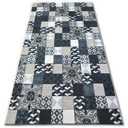 Килим LISBOA 27218/356 керамична мозайка черно португалски стил
