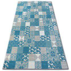 Килим LISBOA 27218/454 керамична мозайка тюркоаз португалски стил