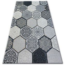 Килим LISBOA 27212/356 шестоъгълник пчелна пита сиво
