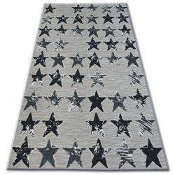 Килим LISBOA 27219/956 звезди черно