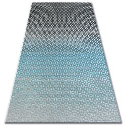 Килим LISBOA 27208/954 Structural черно тюркоазен