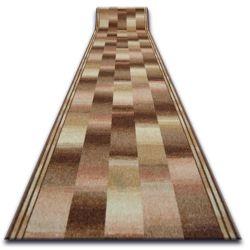 дебел килим бегач противоплъзгаща основа IKAT бежово