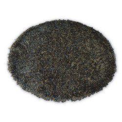 Килим LOVE SHAGGY кръг модел 93600 черно/кафяво