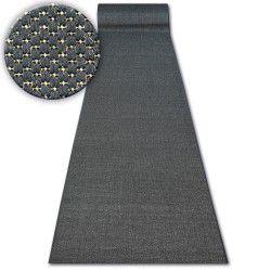 килим бегач SIZAL FLOORLUX модел 20433 черно гладък