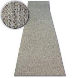 килим бегач SIZAL FLOORLUX модел 20433 тъмнокафяво гладък