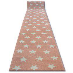 килим бегач SKETCH – FA68 розово/екрю – звезди