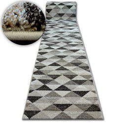 килим бегач SHADOW 636тъмнобежово/екрю- триъгълници