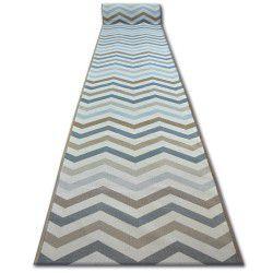 килим бегач противоплъзгаща основа SKY бежово зигзаг