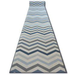 килим бегач противоплъзгаща основа SKY синьо зигзаг