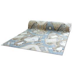 противоплъзгаща основа мокети килим за деца STREET бежово