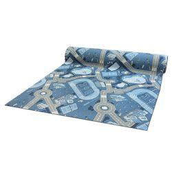 противоплъзгаща основа мокети килим за деца STREET синьо