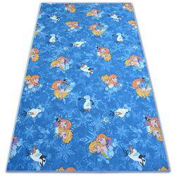 мокети килим за деца FROZEN синьо Замръзналото кралство ELZA