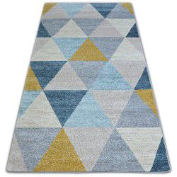 Килим NORDIC триъгълници сив/екрюG4580