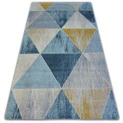Килим NORDIC триъгълници синьо/кремав G4584