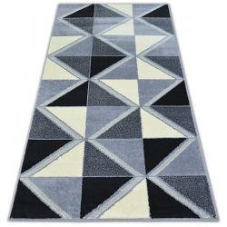Килим BCF BASE TRIGONAL 3974 триъгълници черно/сиво