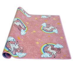 мокети килим за деца UNICORN розово ЕДНОРОГ