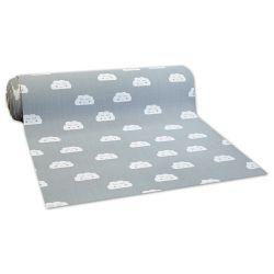 противоплъзгаща основа мокети килим за деца ОБЛАЦИ сиво