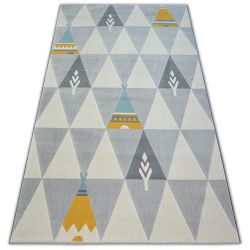 Килим PASTEL 18415/052 – индиянски, ацтеки екрю/сиво/тюркоаз/злато