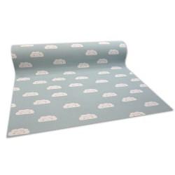 против подхлъзване мокети килим за деца CLOUDS зелен
