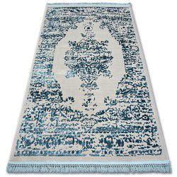 Килим AKRYL MANYAS 192AA сиво/синьо пискюли