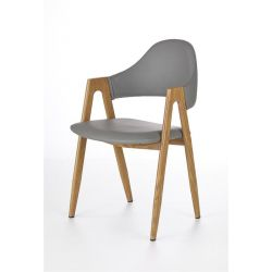 стол K247 сиво/меден дъб
