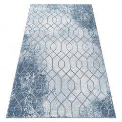 Килим AKRYL VALENCIA 3951 HEKSAGON синьо/сиво