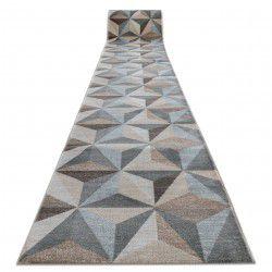 Пътеки ARGENT – W6096 триъгълници 3D бежово/синьо