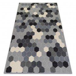 Килим HEOS 78537 сив / сметана шестоъгълник