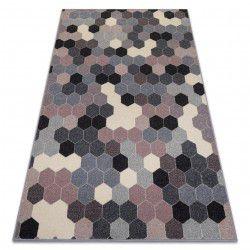 Килим HEOS 78537 сив / розов / сметана шестоъгълник