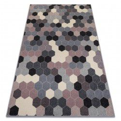 Килим HEOS 78537 сиво/розово/сметана шестоъгълник