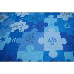мокети килим пъзели синьо