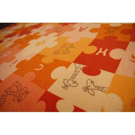 мокети килим пъзели оранжево