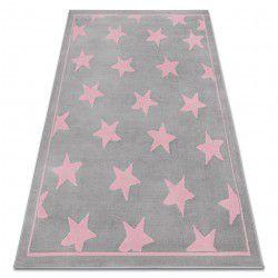Килим BCF ANNA Stars 3105 звезди сивo / розов