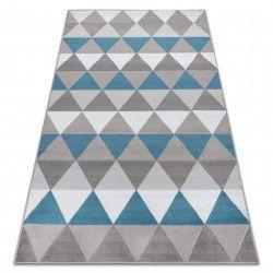 Килим BCF ANNA Triangles 2965 триъгълници син