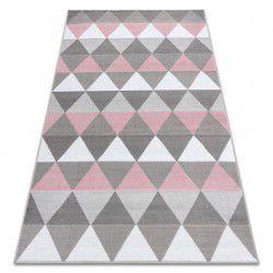 Килим BCF ANNA Triangles 2965 триъгълници розов