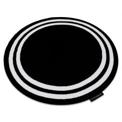 Килим HAMPTON рамка кръг черно