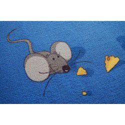 мокети килим мишка синьо