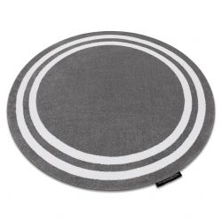 Килим HAMPTON рамка кръг сиво