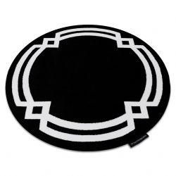 Килим HAMPTON Lux кръг черно