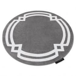 Килим HAMPTON Lux кръг сиво