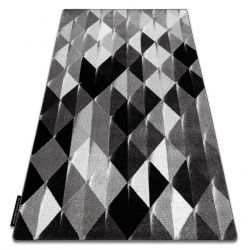 Килим INTERO PLATIN 3D триъгълници сив