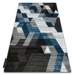 Килим INTERO TECHNIC 3D диаманти триъгълници син