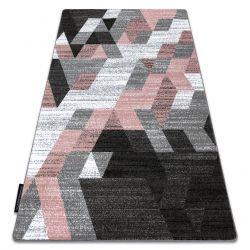 Килим INTERO TECHNIC 3D диаманти триъгълници розов