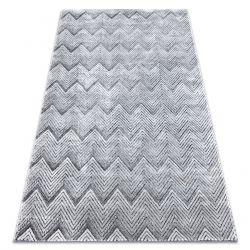 Килим Structural SIERRA G5010 плоски тъкани сив - геометричен, зигзаг