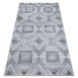 Килим Structural SIERRA G5011 плоски тъкани сив / черно - геометричен, диаманти