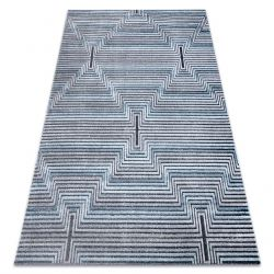 Килим Structural SIERRA G5018 плоски тъкани син - ленти, диаманти